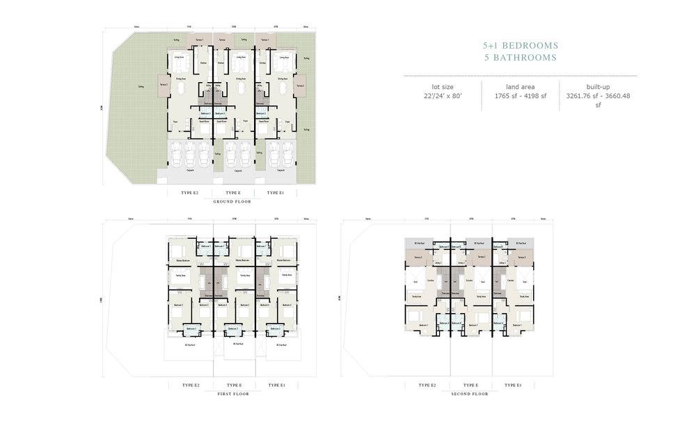 Arahsia Type E/E1/E2 Floor Plan