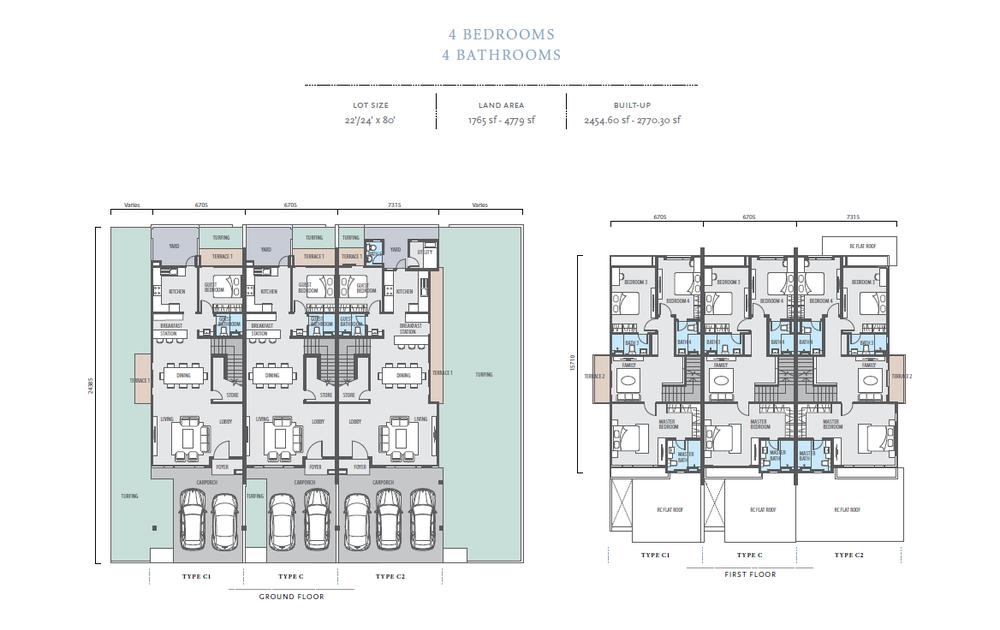 Bayan Type C/C1/C2 Floor Plan