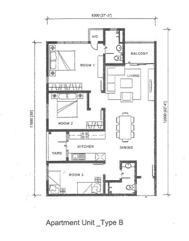 Silk Sky Type B Floor Plan