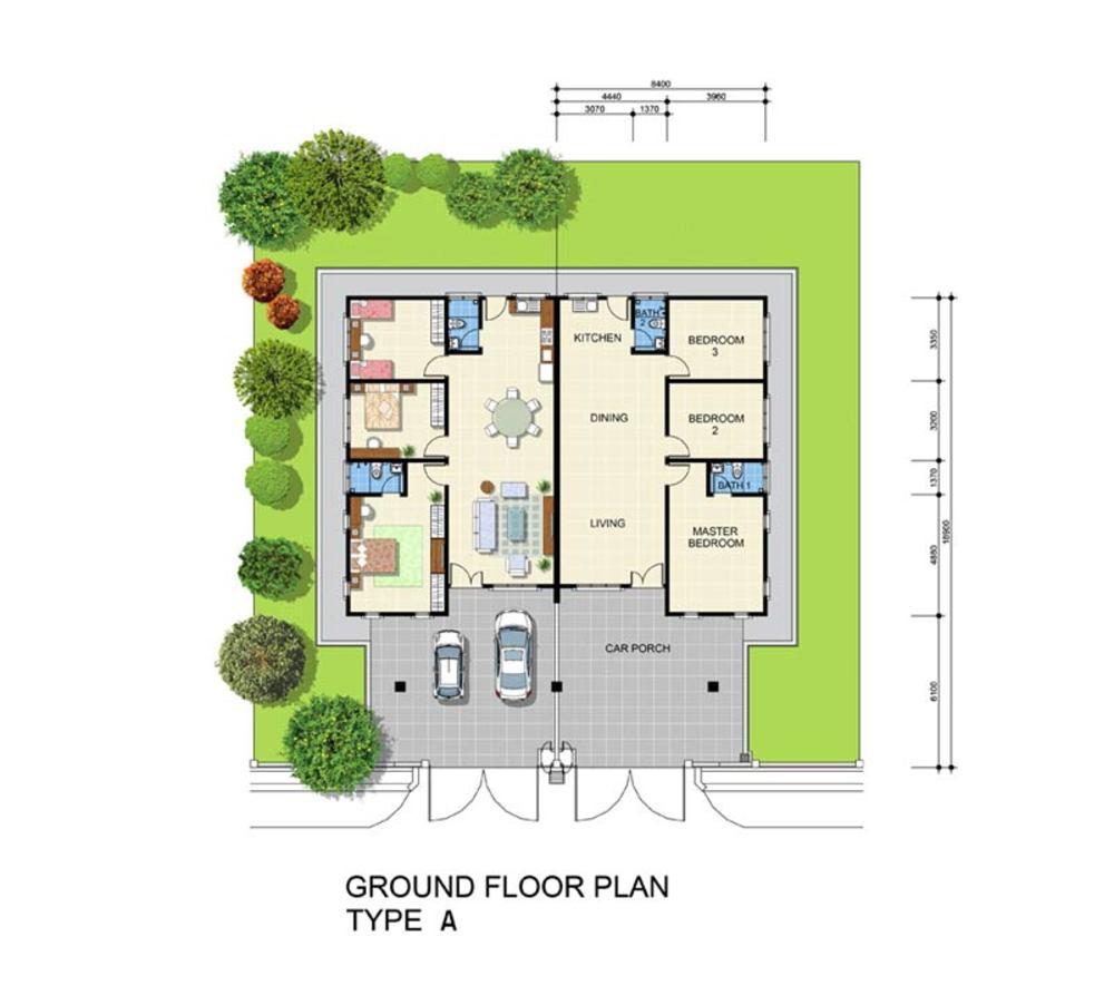 Min Garden Type A Floor Plan