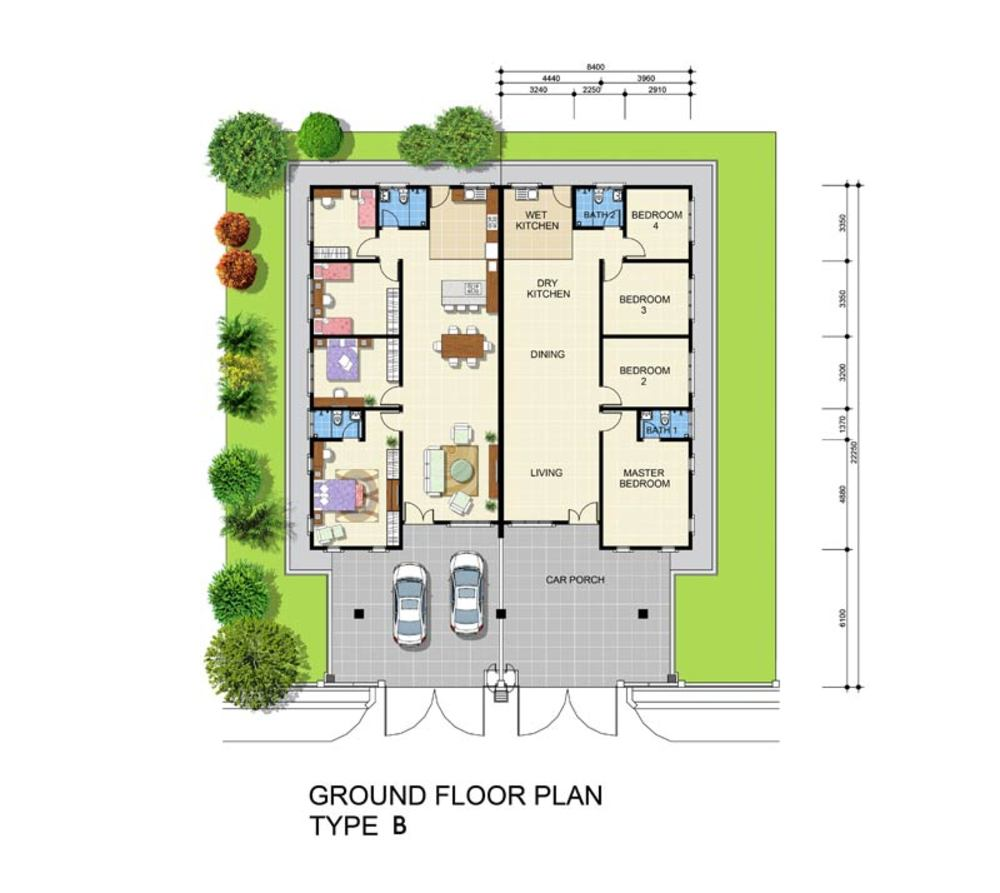 Min Garden Type B Floor Plan