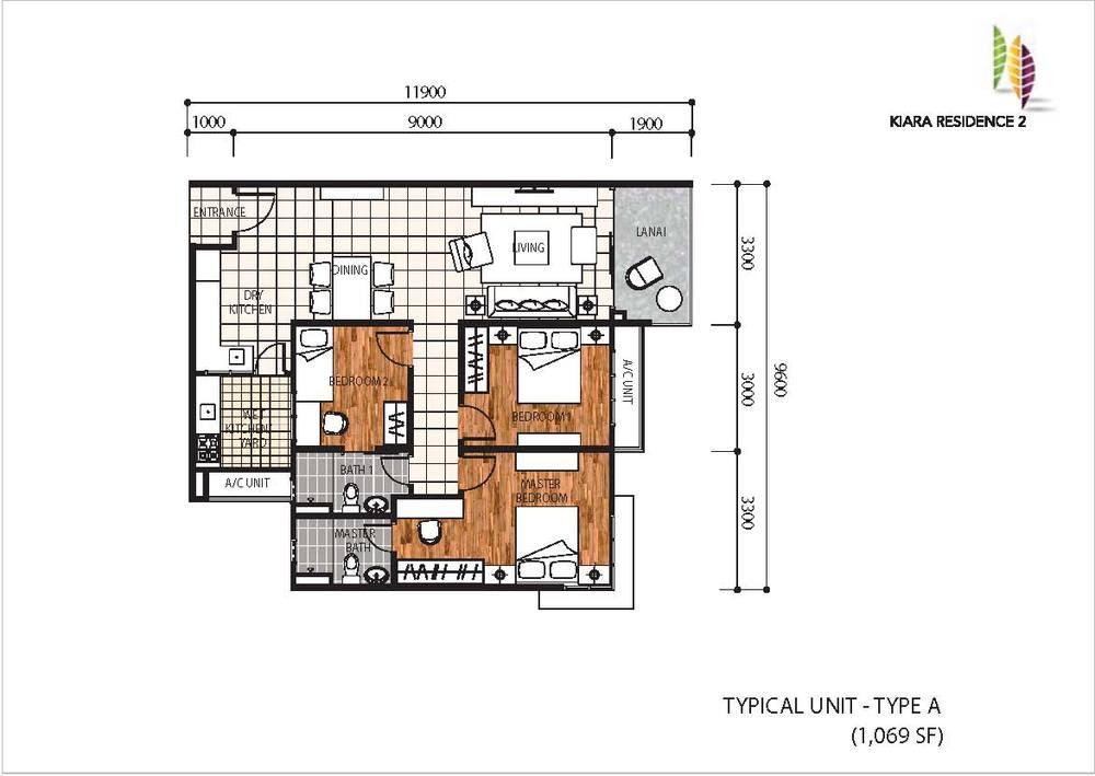 Kiara Residence 2 Type A Floor Plan