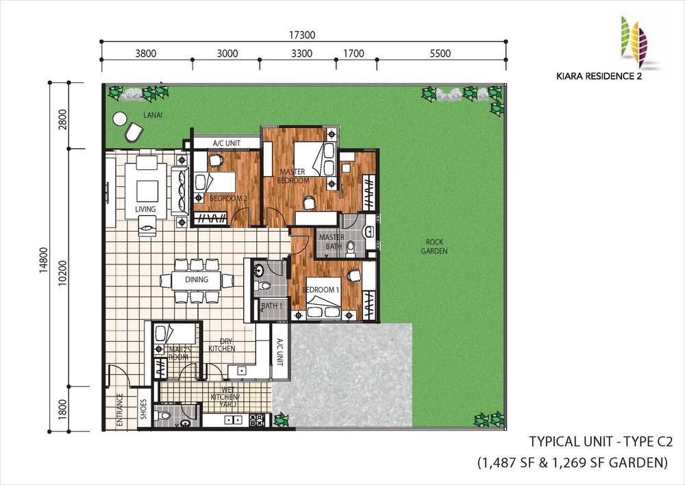 Kiara Residence 2 Type C2 Floor Plan