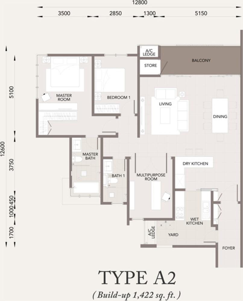 Verde Type A2 Floor Plan