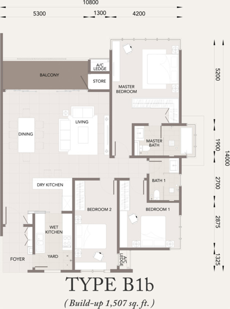 Verde Type B1b Floor Plan