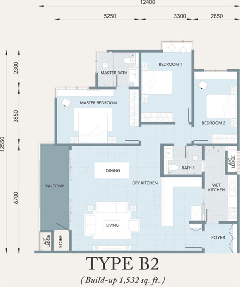 Verde Type B2 Floor Plan