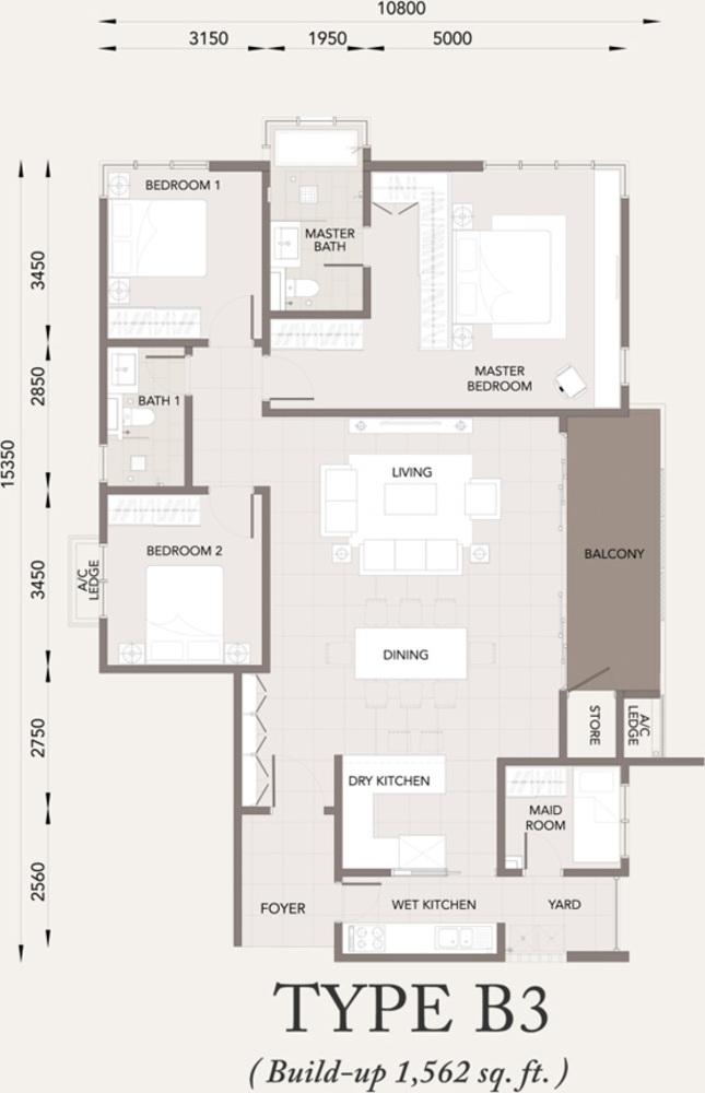 Verde Type B3 Floor Plan