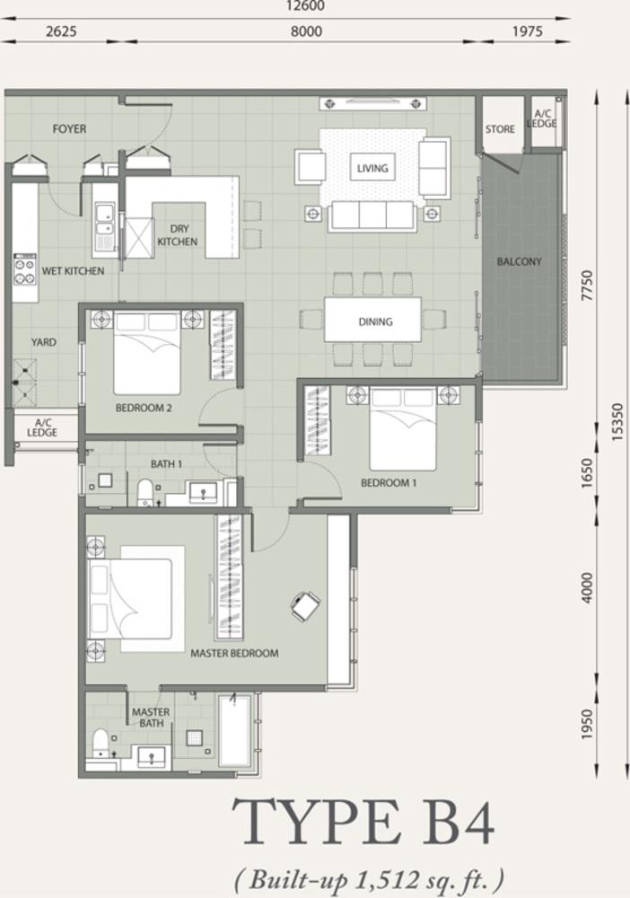 Verde Type B4 Floor Plan
