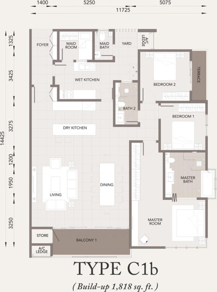 Verde Type C1b Floor Plan