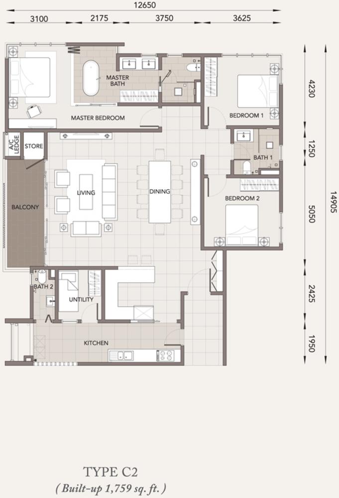 Verde Type C2 Floor Plan