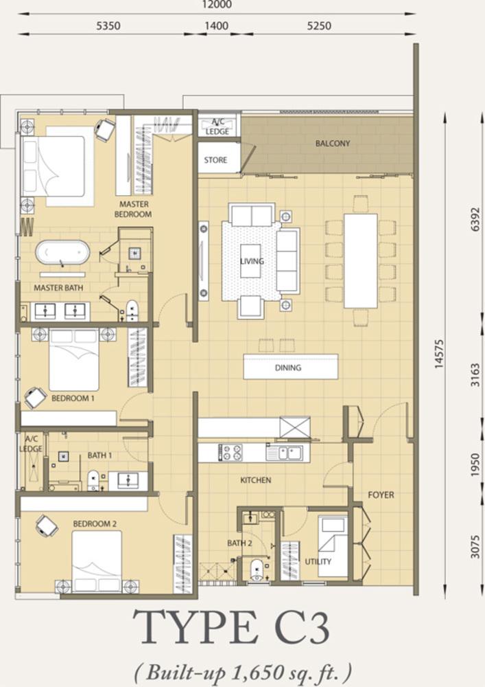 Verde Type C3 Floor Plan