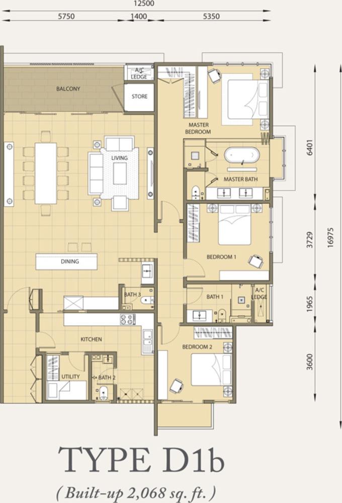 Verde Type D1b Floor Plan