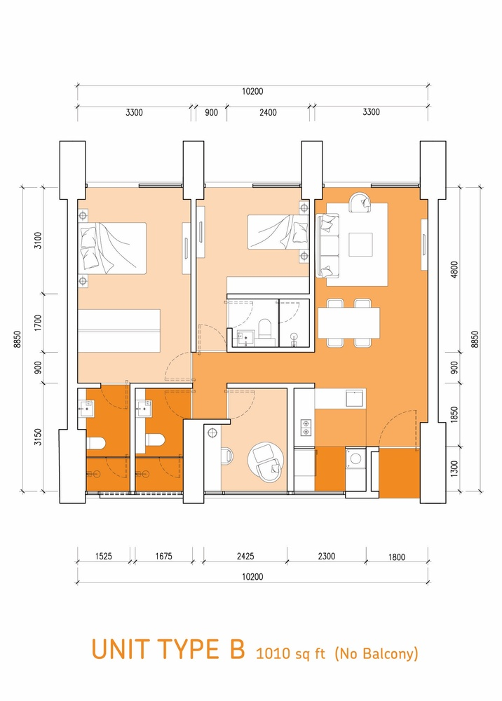 Lumi Tropicana Type B Floor Plan