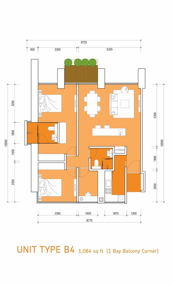 Lumi Tropicana Type B4 Floor Plan
