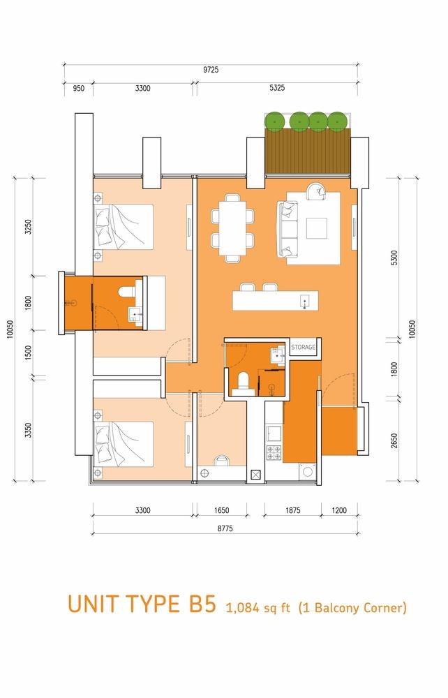 Lumi Tropicana Type B5 Floor Plan