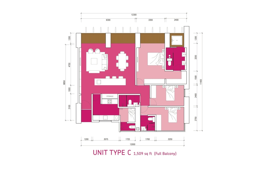 Lumi Tropicana Type C Floor Plan