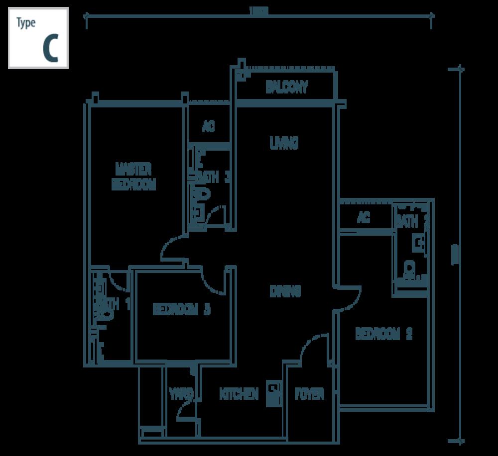 The Netizen Type C Floor Plan