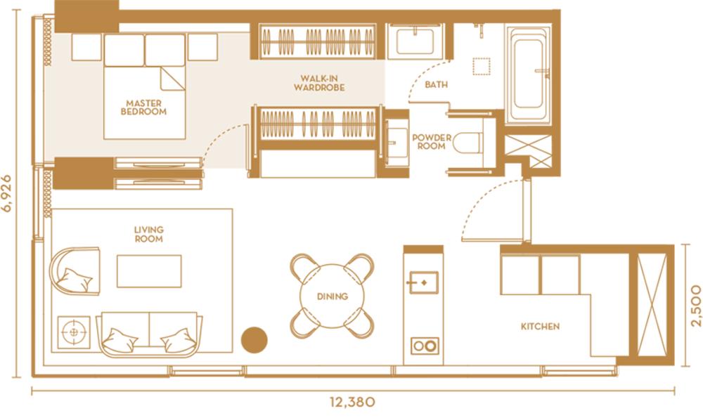 Pavilion Suites Type C Floor Plan