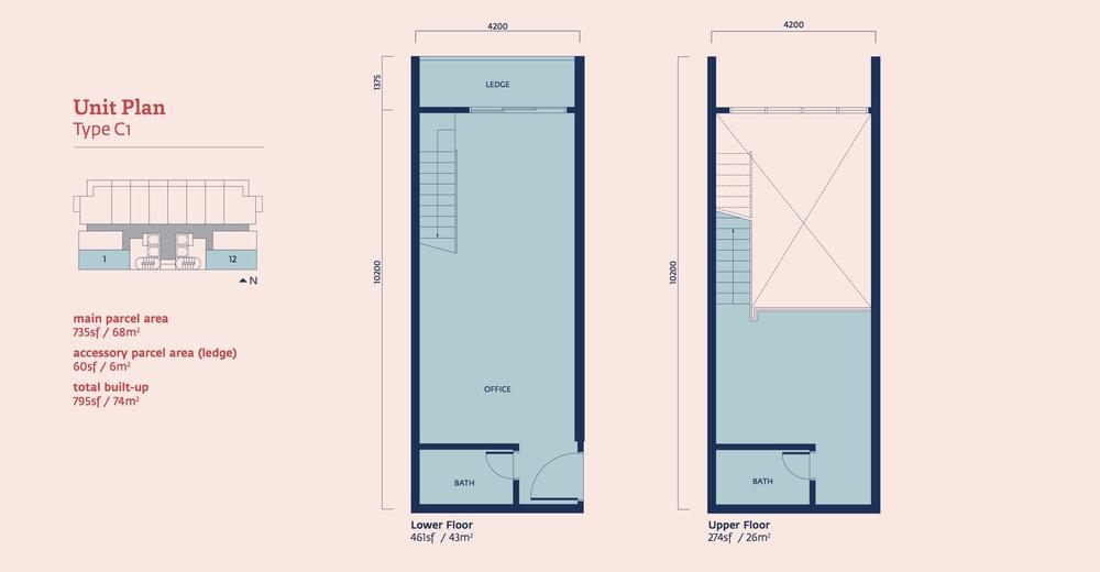 Emporis Type C1 Floor Plan
