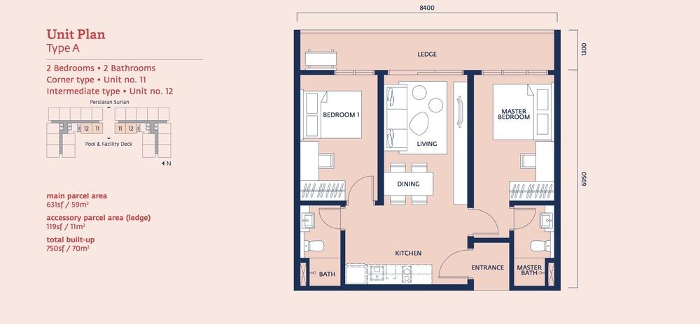 Emporis Type A Floor Plan