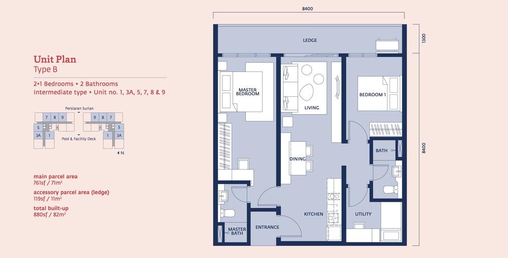 Emporis Type B Floor Plan