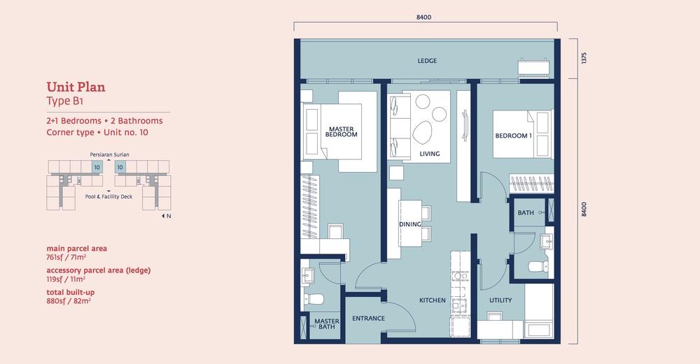 Emporis Type B1 Floor Plan