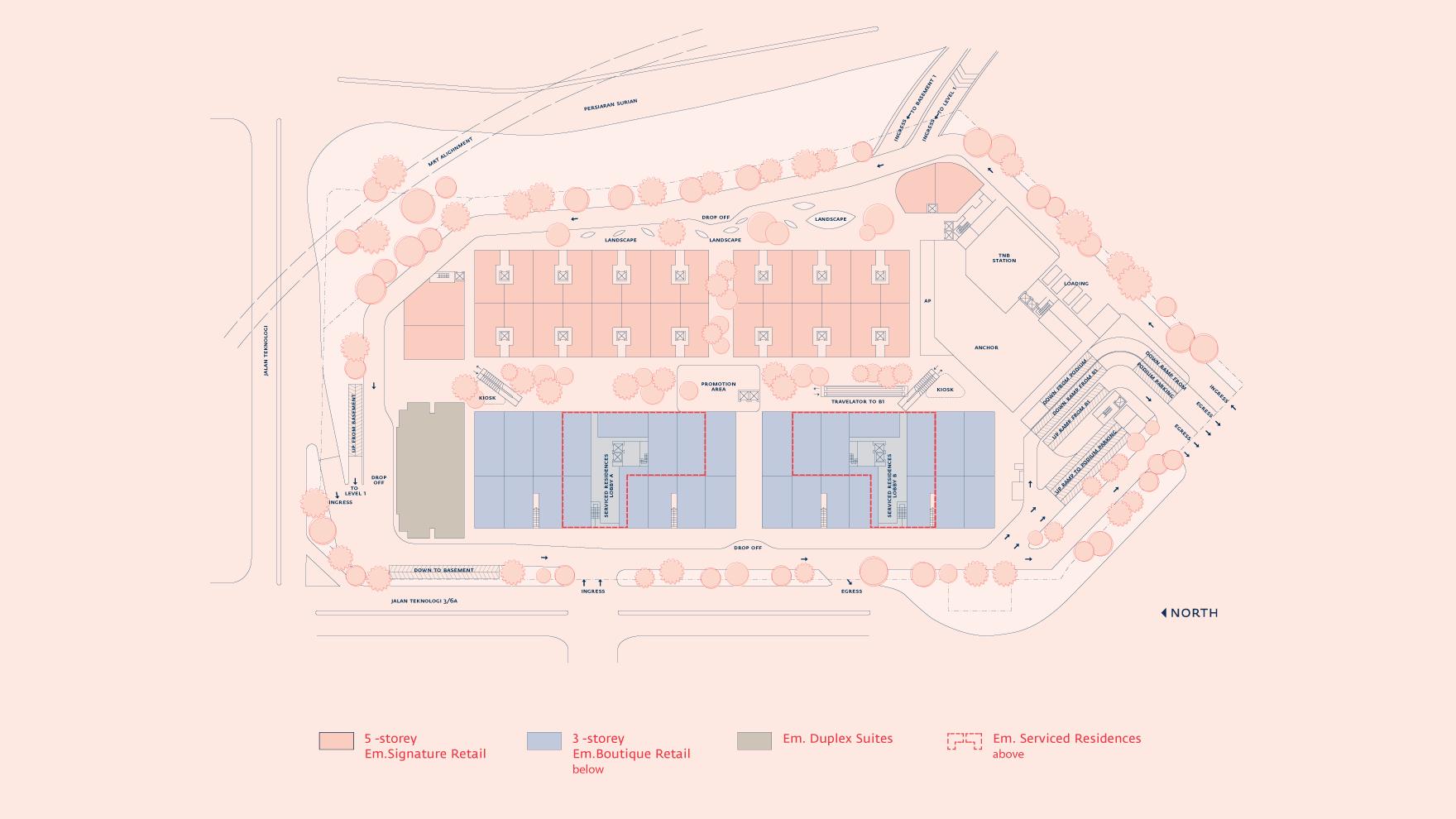 Site Plan of Emporis