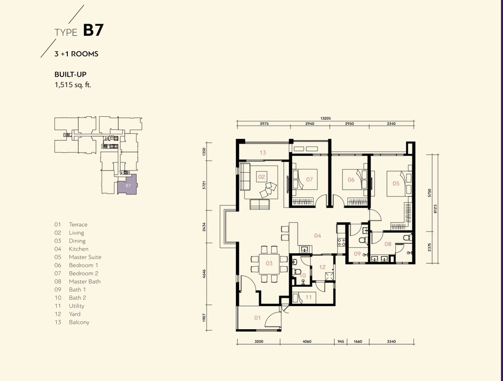 Residensi Harmoni 2 @ Bukit Prima Pelangi Type B7 (Block B) Floor Plan