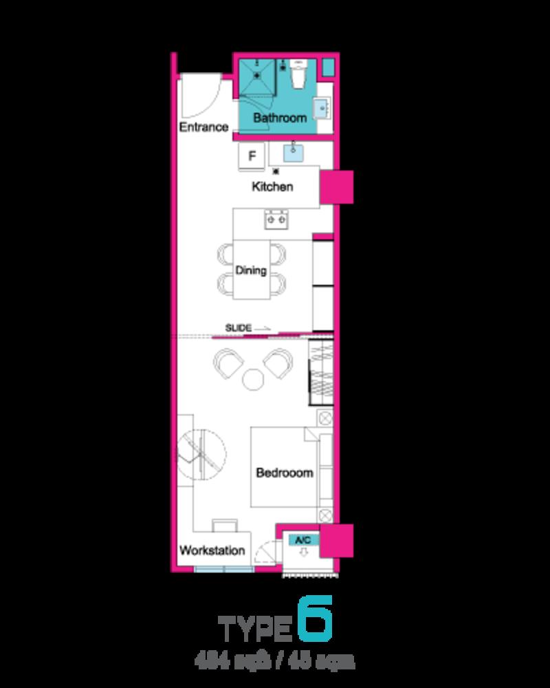 VIVO Suites @ 9 Seputeh Type 6 Floor Plan