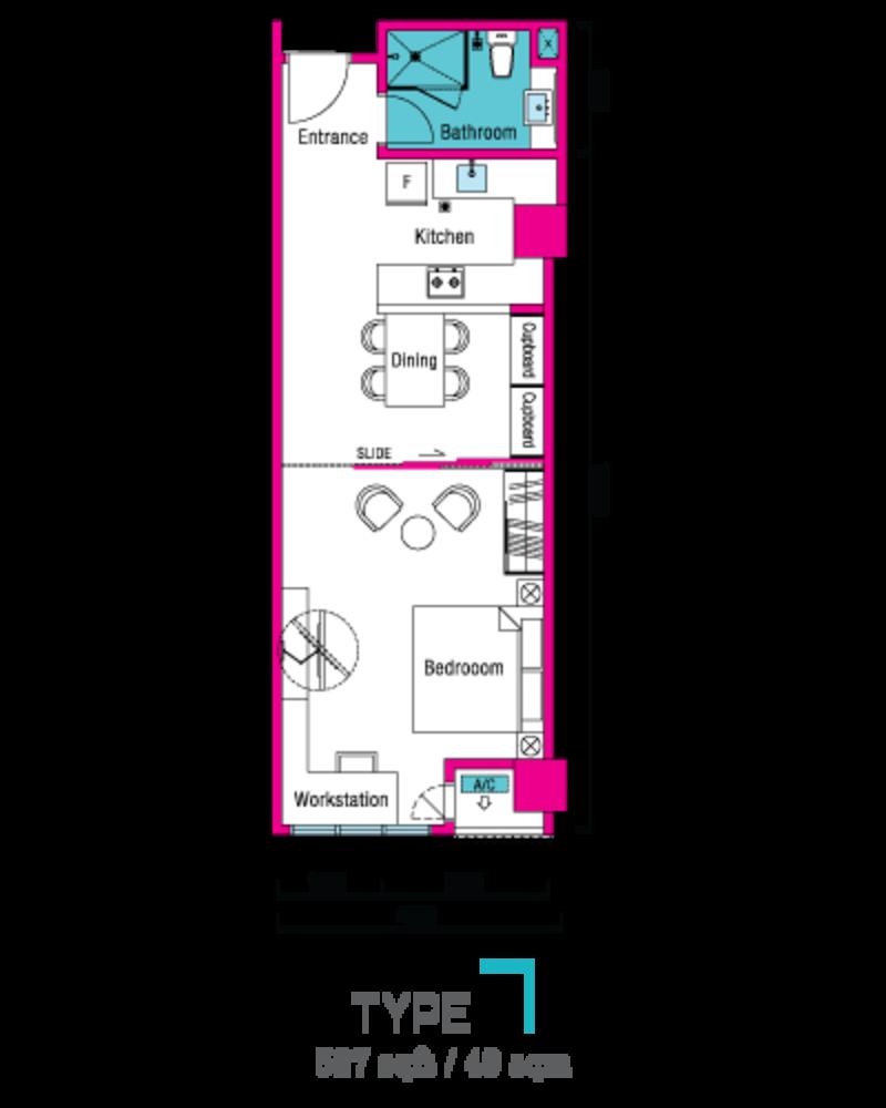 VIVO Suites @ 9 Seputeh Type 7 Floor Plan