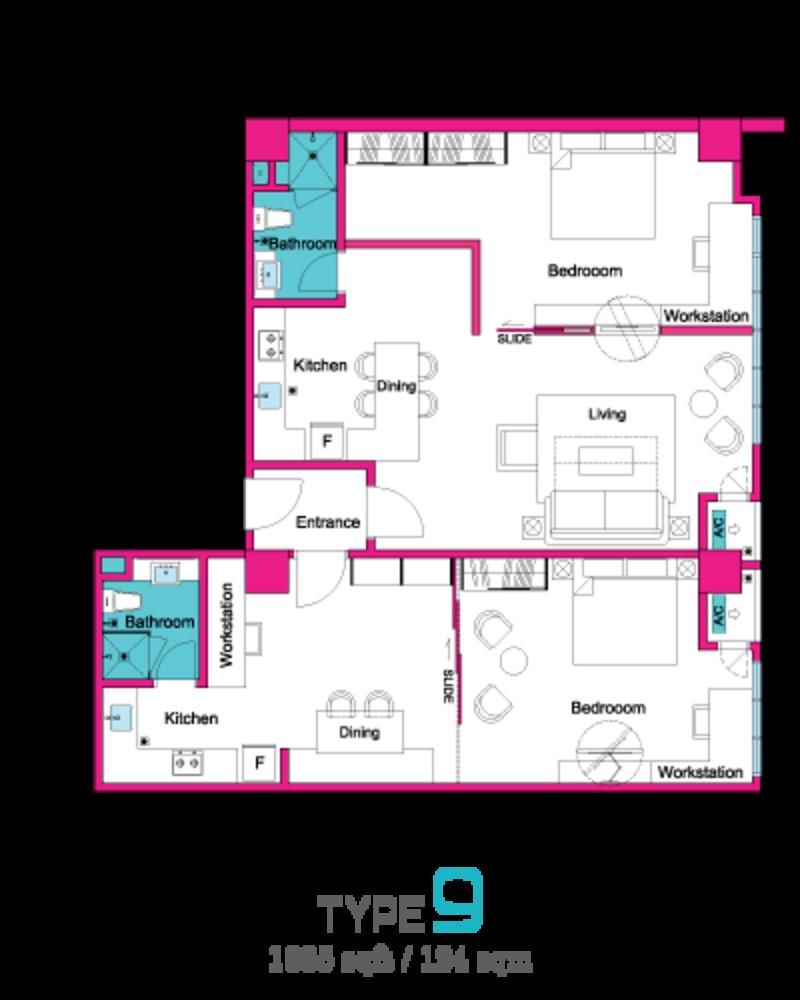VIVO Suites @ 9 Seputeh Type 9 Floor Plan