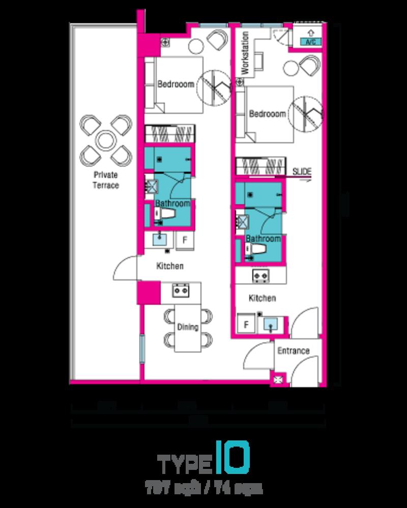 VIVO Suites @ 9 Seputeh Type 10 Floor Plan