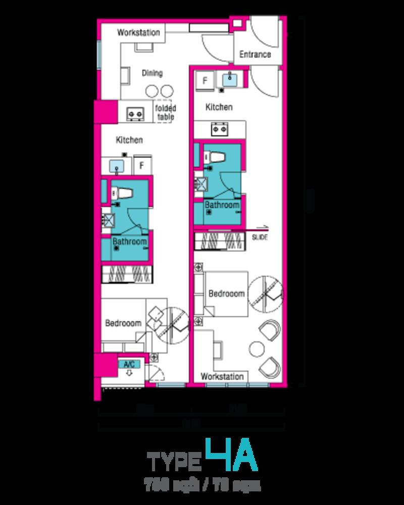 VIVO Suites @ 9 Seputeh Type 4A Floor Plan