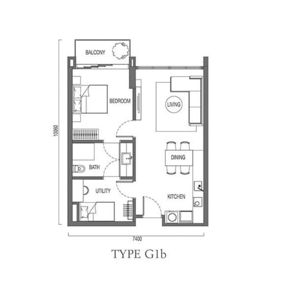 The Parque Residences @ Eco Sanctuary Type G1b Floor Plan