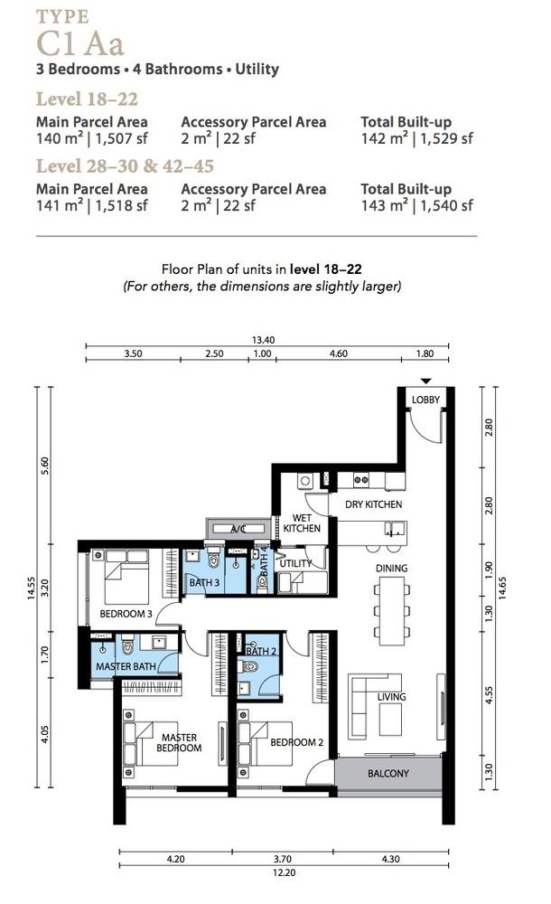 The Westside Three Type C1 Aa Floor Plan