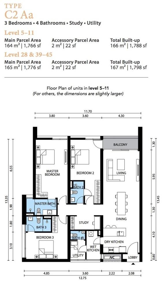 The Westside Three Type C2 Aa Floor Plan