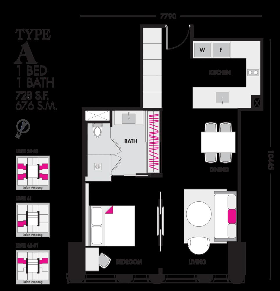 Tropicana The Residences Type A Floor Plan