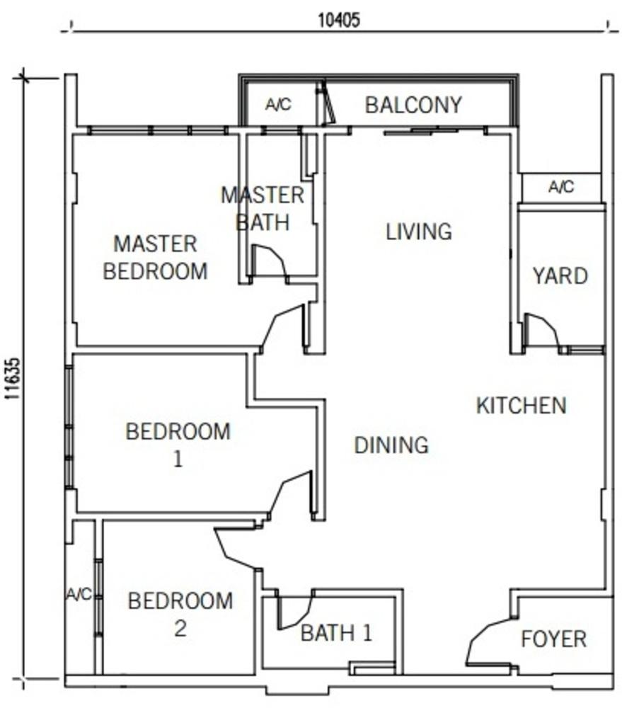 9INE Type B Floor Plan