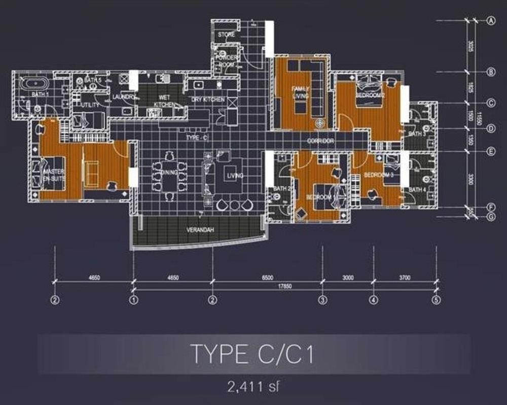 Casa Green Type C/C1 Floor Plan