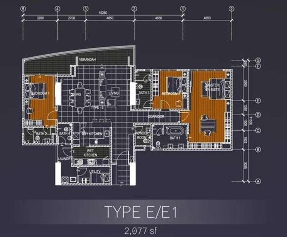 Casa Green Type E/E1 Floor Plan