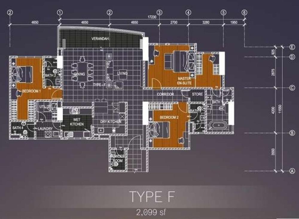 Casa Green Type F Floor Plan