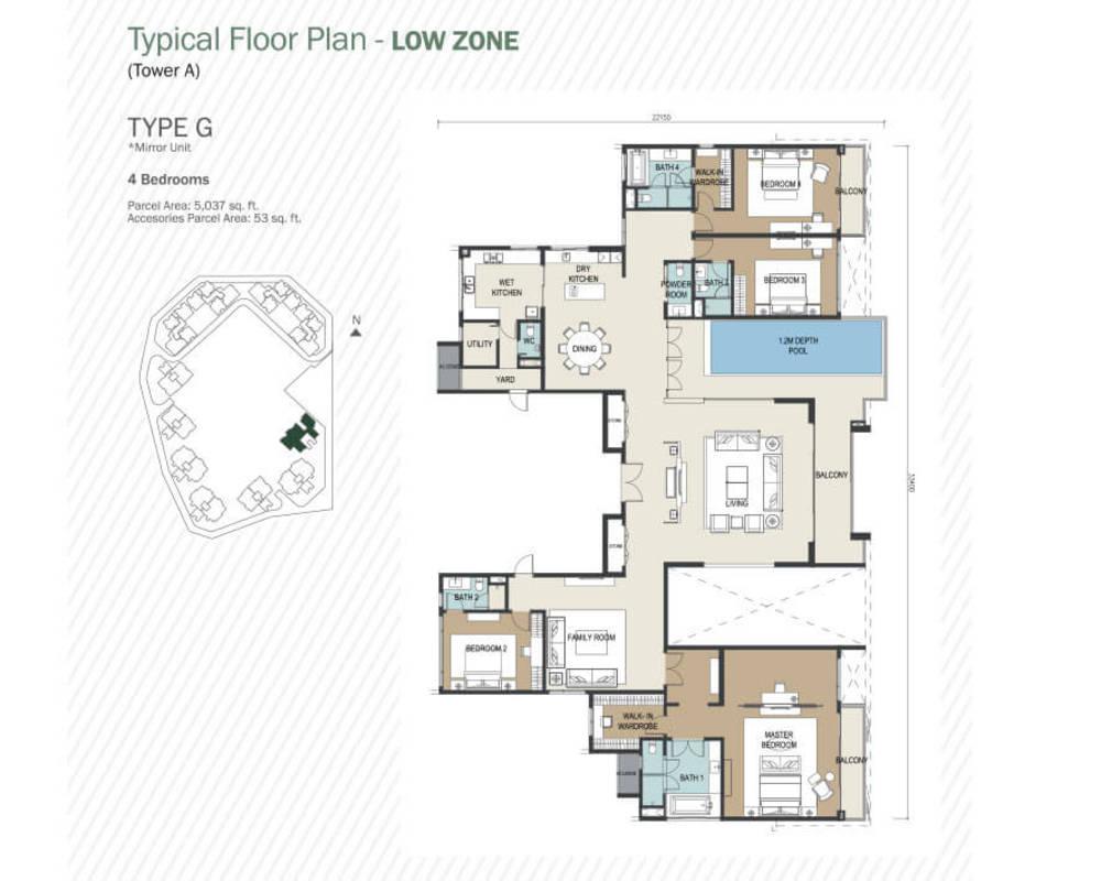 Agile Mont Kiara Type G Floor Plan