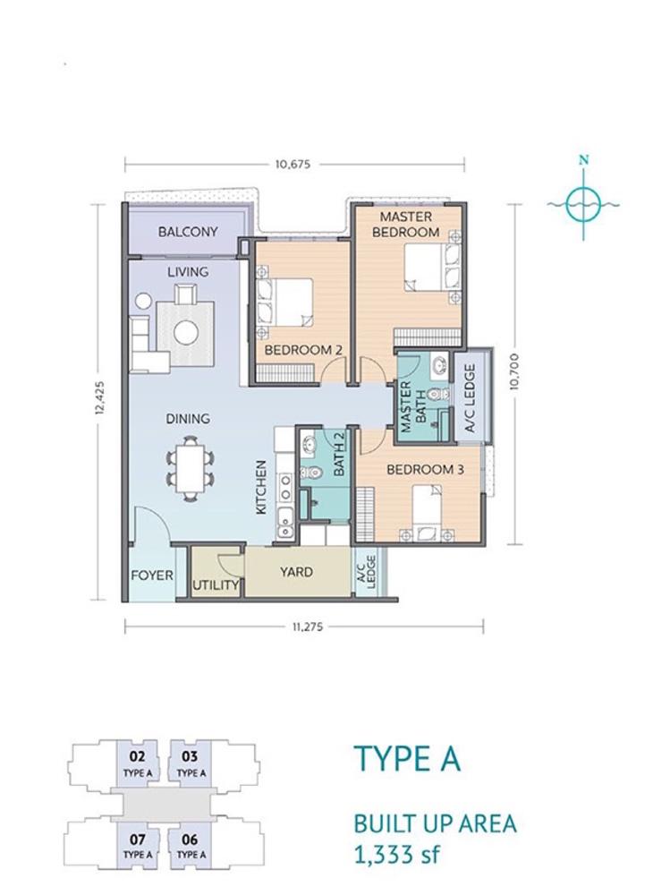Residensi Sefina Type A Floor Plan