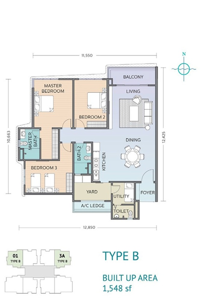 Residensi Sefina Type B Floor Plan