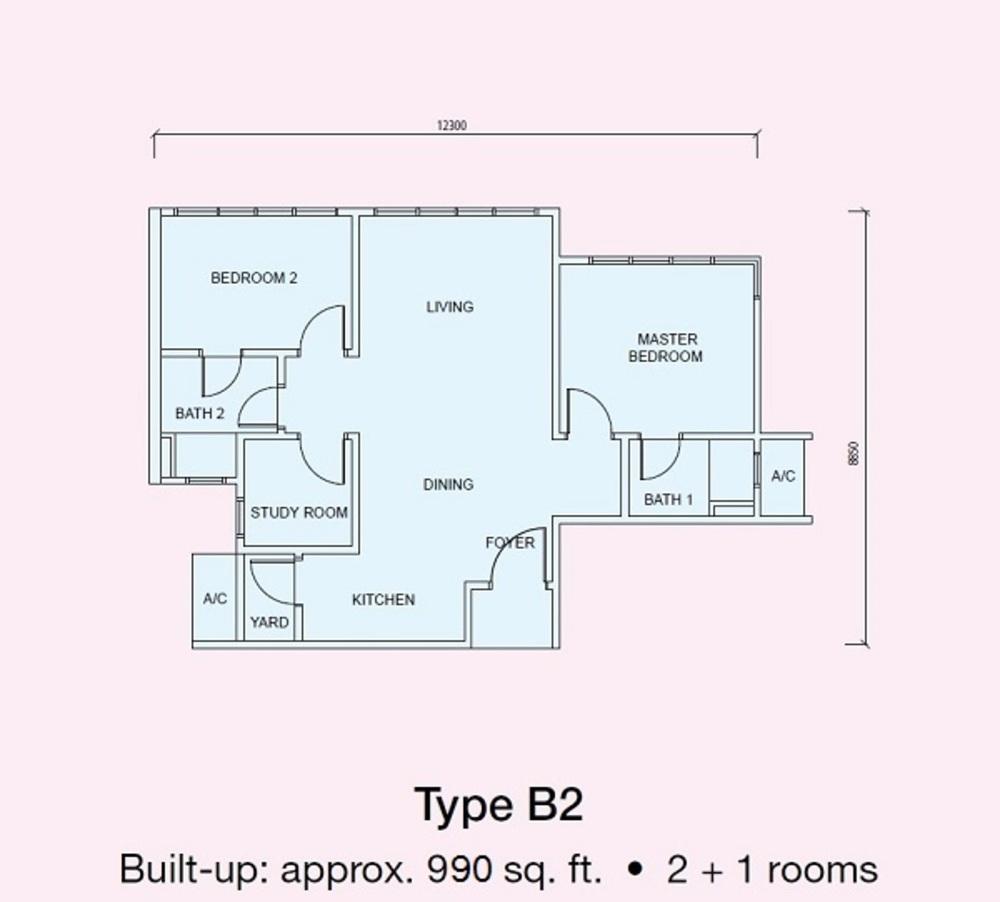 Conezión Type B2 Floor Plan