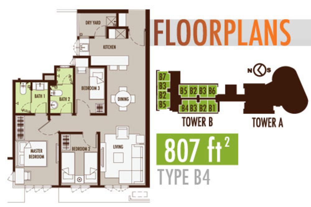 Tiara Mutiara 2 Type B4 Floor Plan