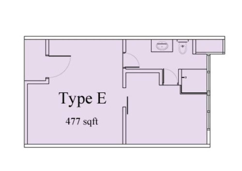 Vega Suites @ Selayang Star City Type E Floor Plan