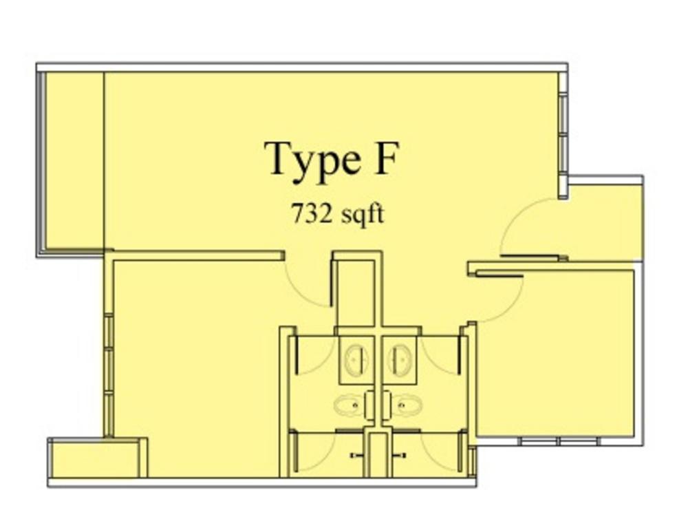 Vega Suites @ Selayang Star City Type F Floor Plan