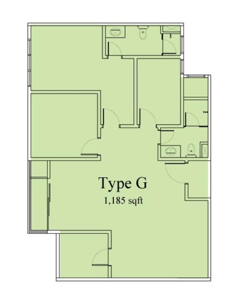 Vega Suites @ Selayang Star City Type G Floor Plan