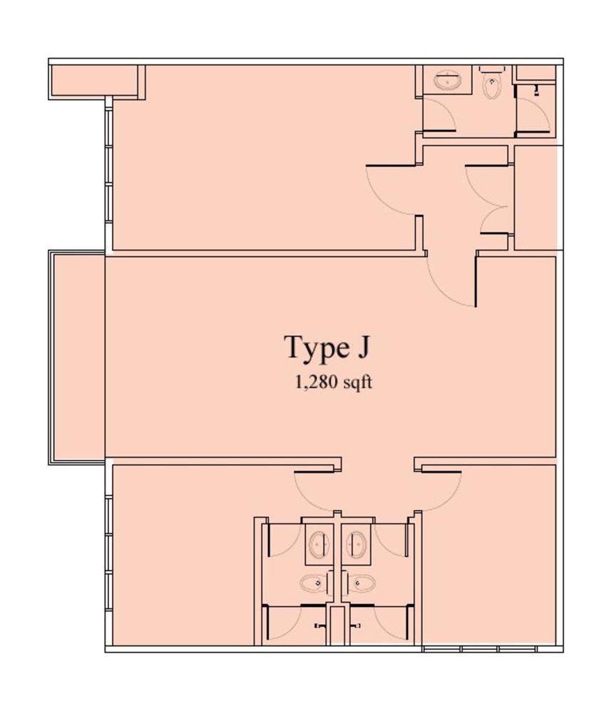 Vega Suites @ Selayang Star City Type J Floor Plan
